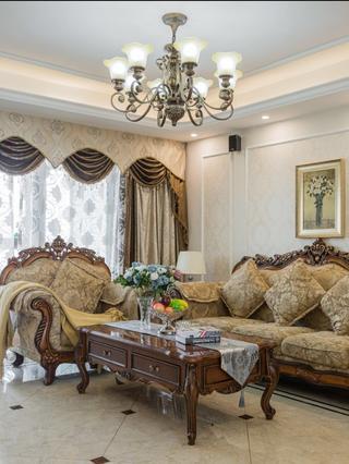 140平欧式风格装修沙发图片