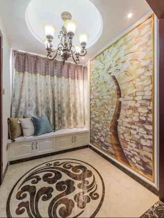 140平欧式风格装修门厅实景图