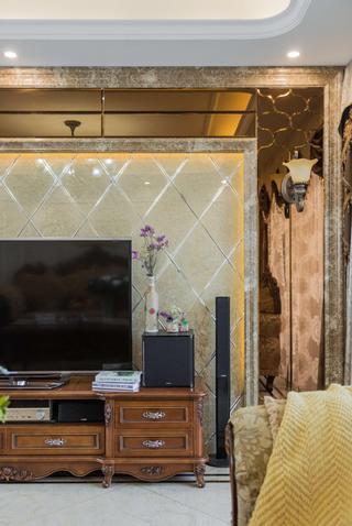 140平欧式风格装修电视背景墙图片