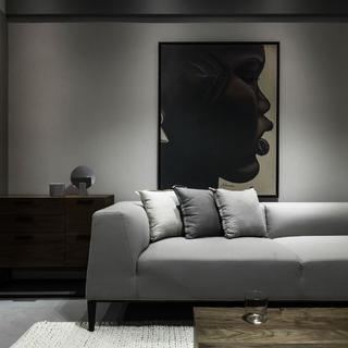 118㎡二居室装修 灰色也温馨