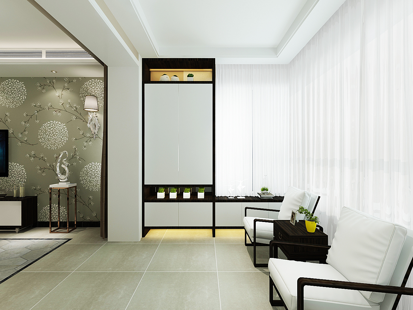 清新简约家装修门厅设计
