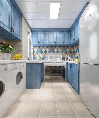 三居室地中海风格家厨房设计图