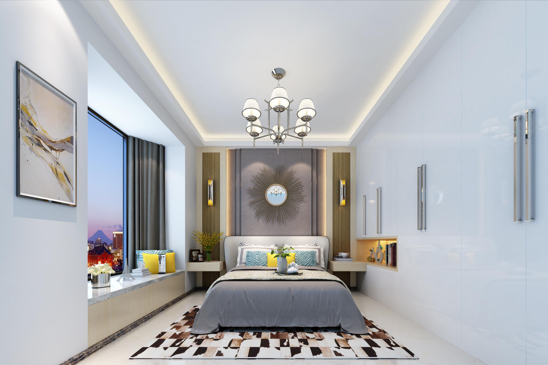 简约三居室装修卧室设计图