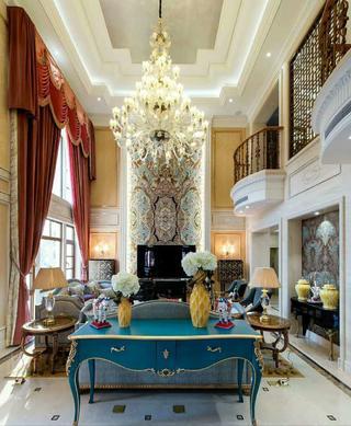 欧式古典别墅装修客厅效果图