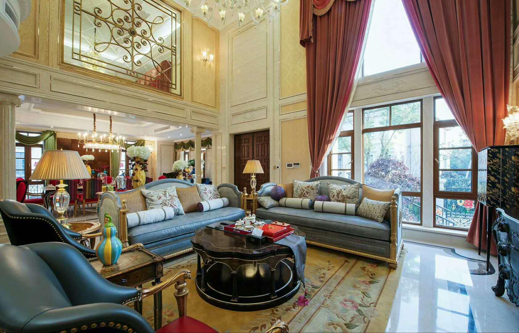欧式古典别墅装修沙发图片