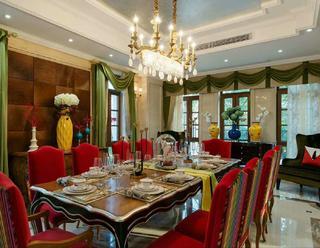 欧式古典别墅装修餐厅布置图