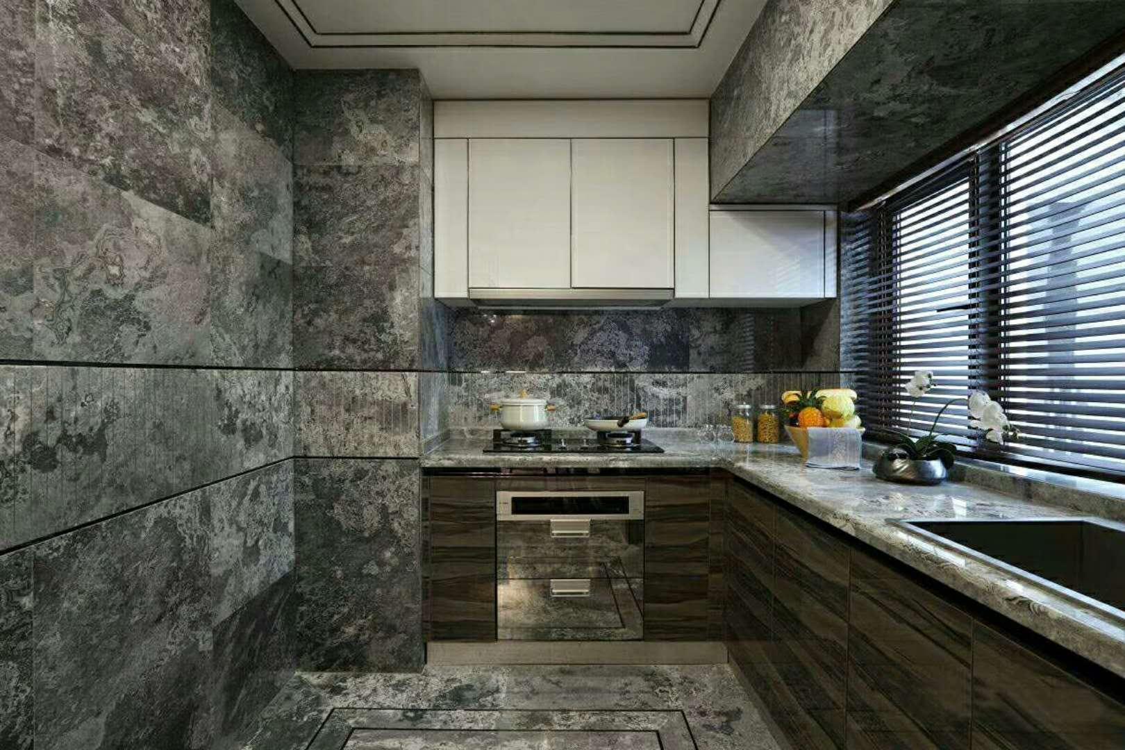 新中式三居装修厨房装潢图