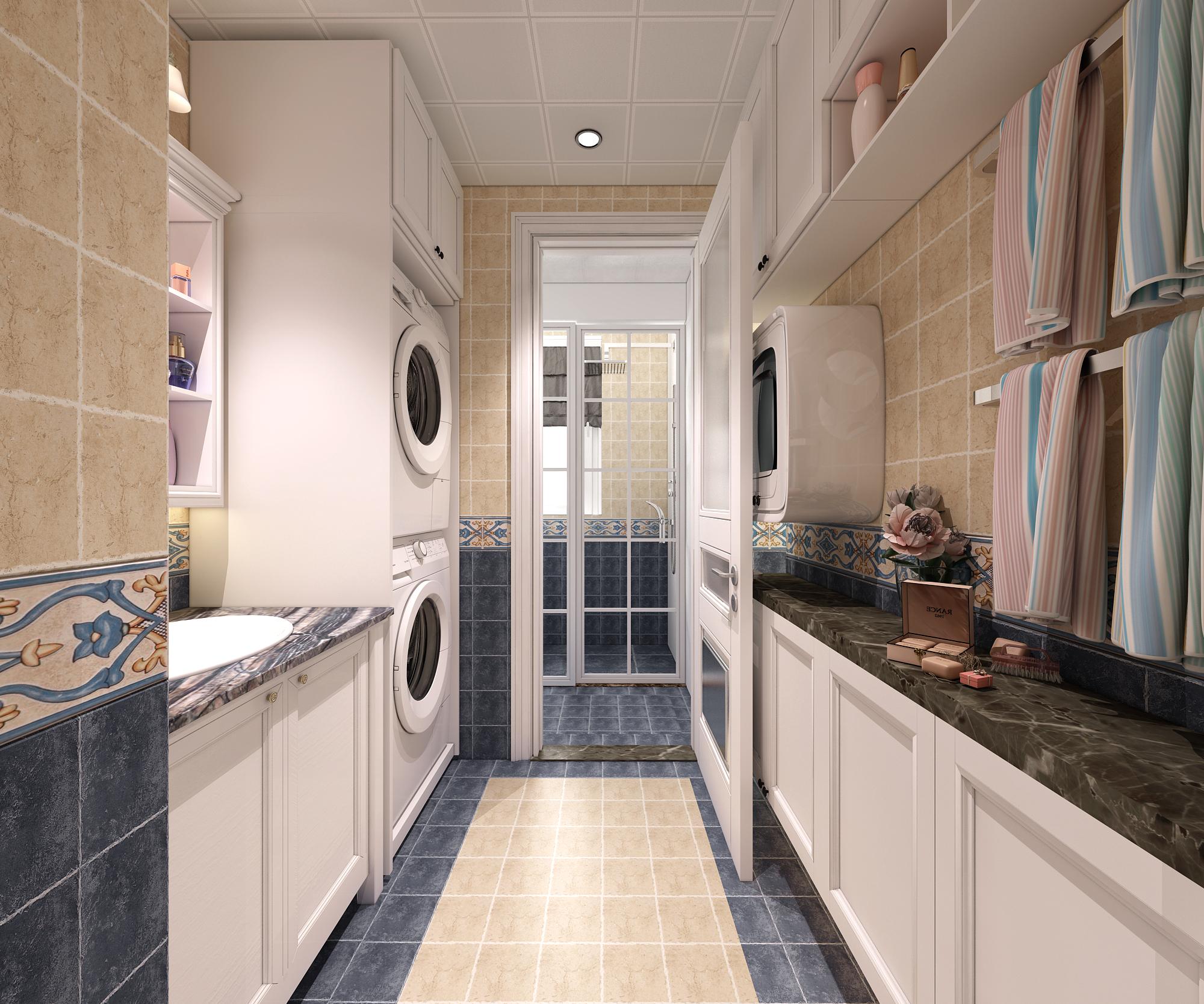 简约美式风格装修卫生间设计图