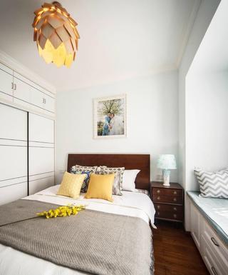 100平简约风格家卧室设计图