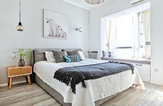 二居室现代北欧装修卧室效果图