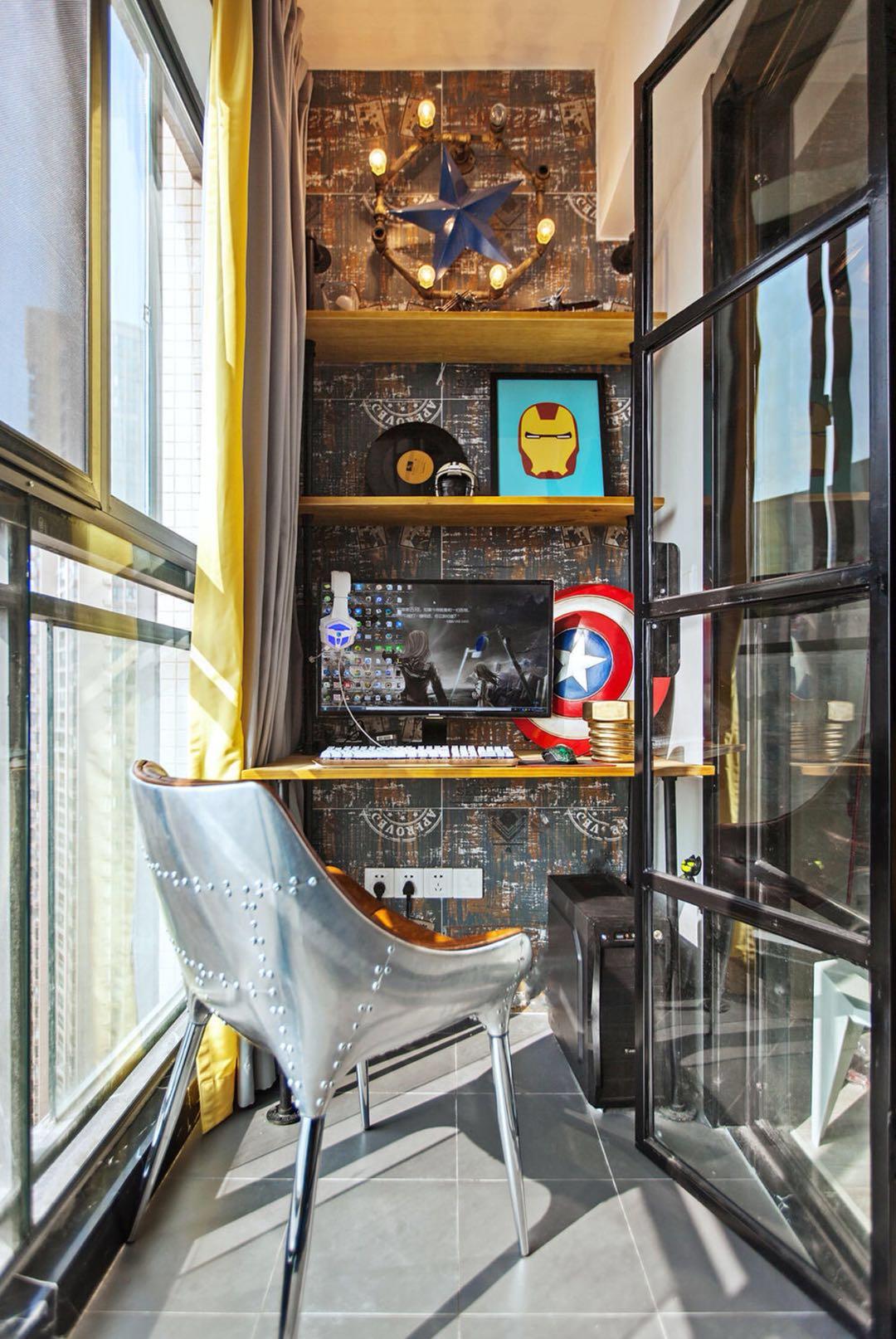 二居室现代北欧装修阳台效果图
