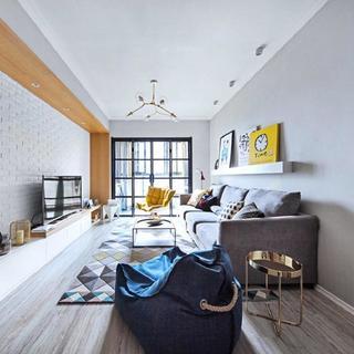 二居室现代北欧装修 温柔质调