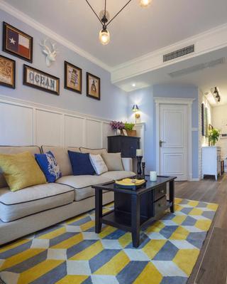 小户型美式之家地毯图片