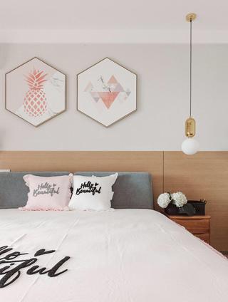 创意北欧风装修卧室床头墙图片