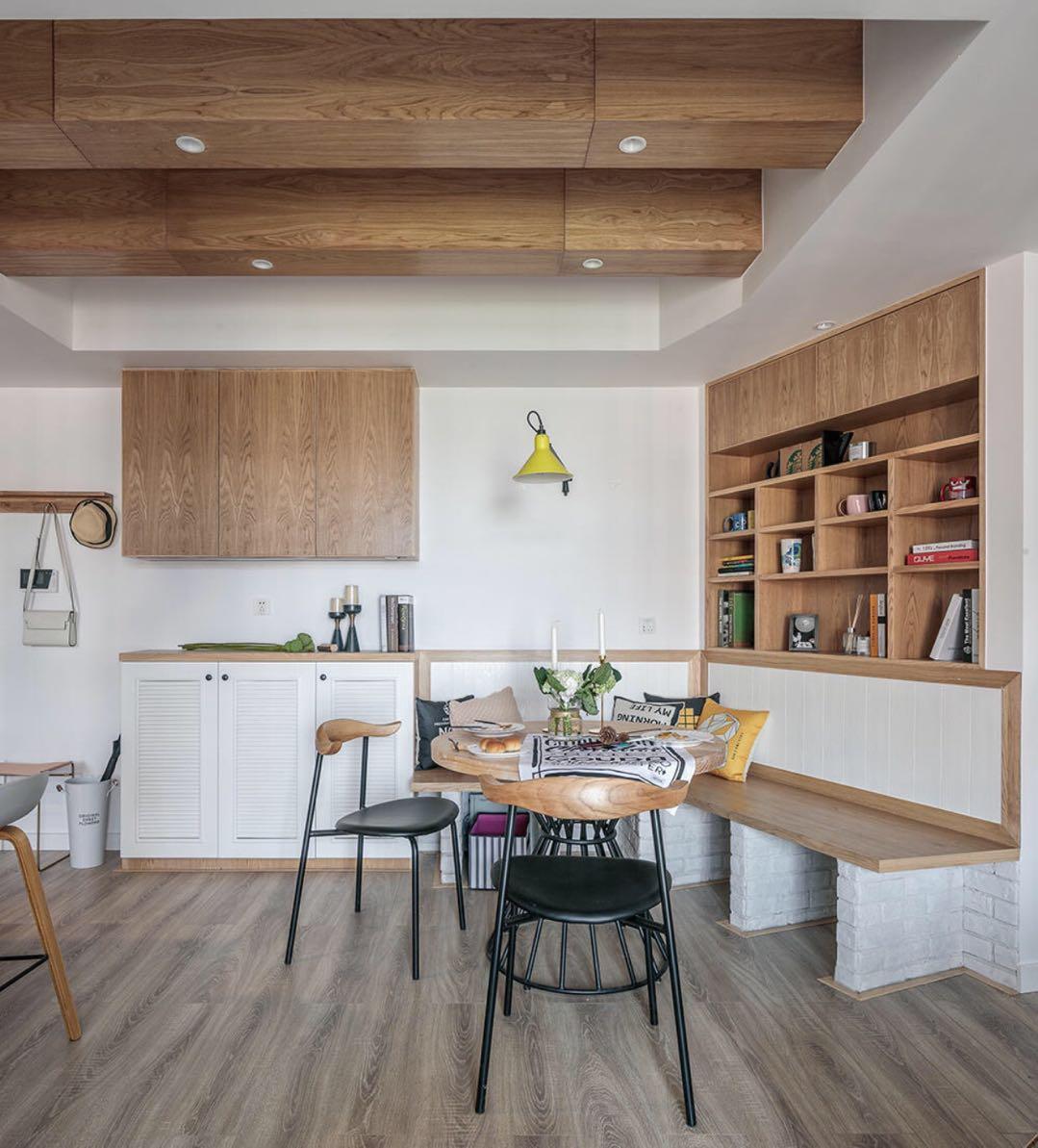 三居室北欧风格家餐厅背景墙设计