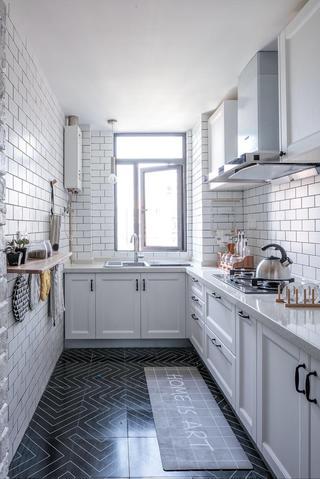 三居室北欧风格家厨房构造图