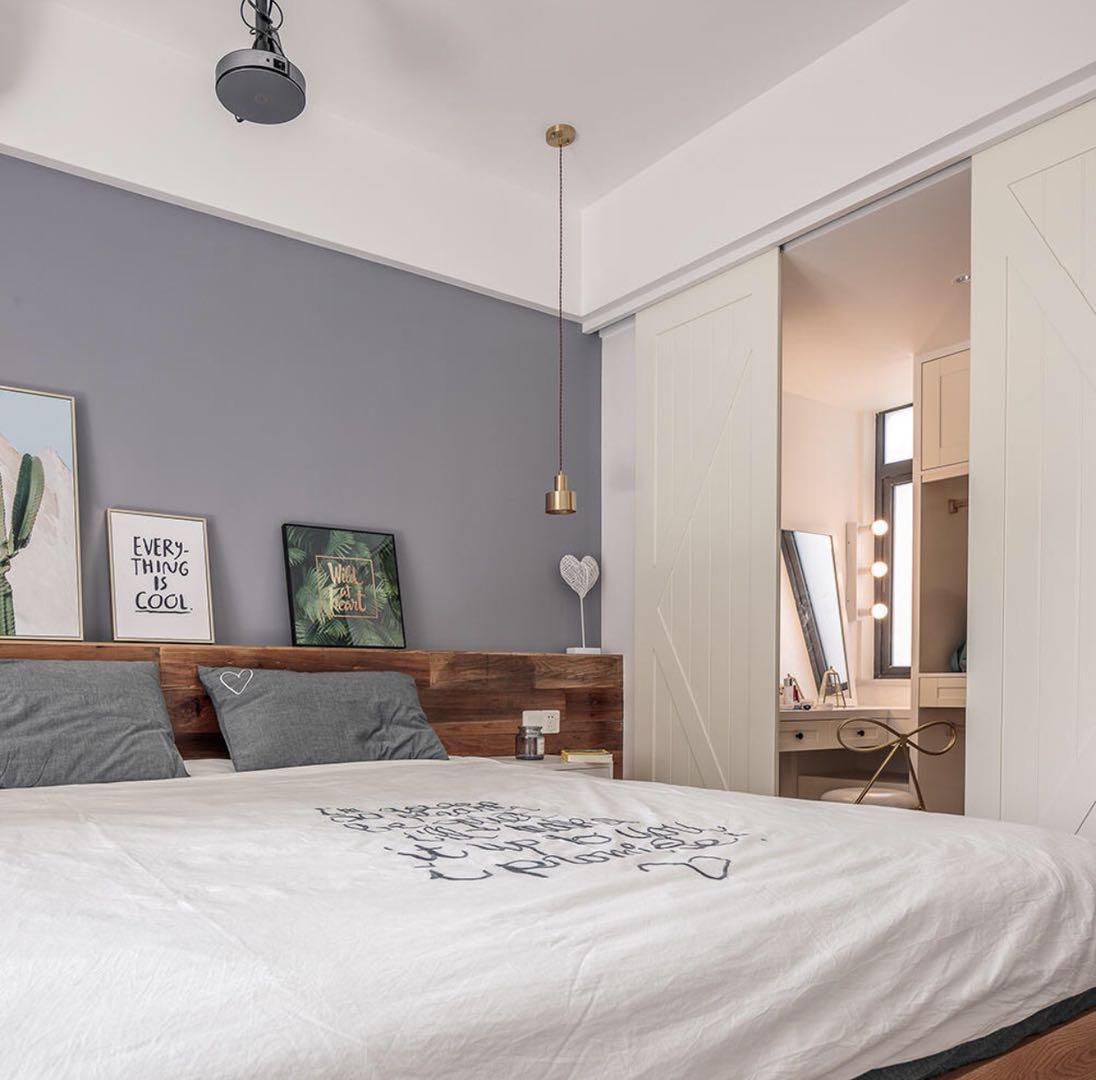 三居室北欧风格家卧室隔断设计