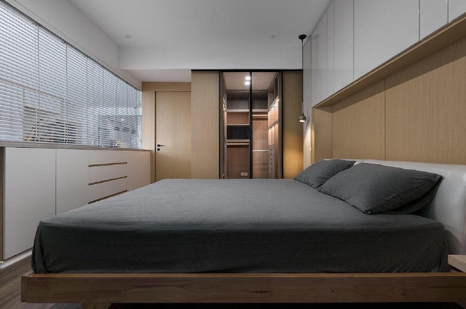 110㎡简约之家卧室效果图