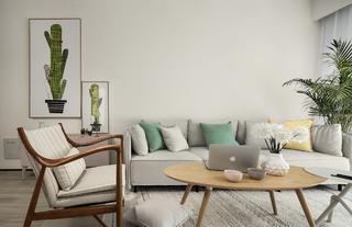 90㎡简约装修沙发背景墙图片