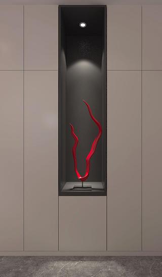 110平简约风装修收纳柜装饰设计
