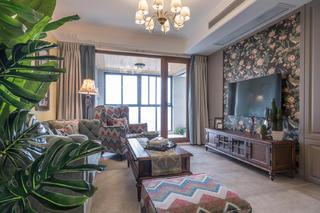 130㎡美式风格家客厅效果图