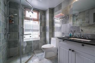 130㎡美式风格家卫生间装潢图