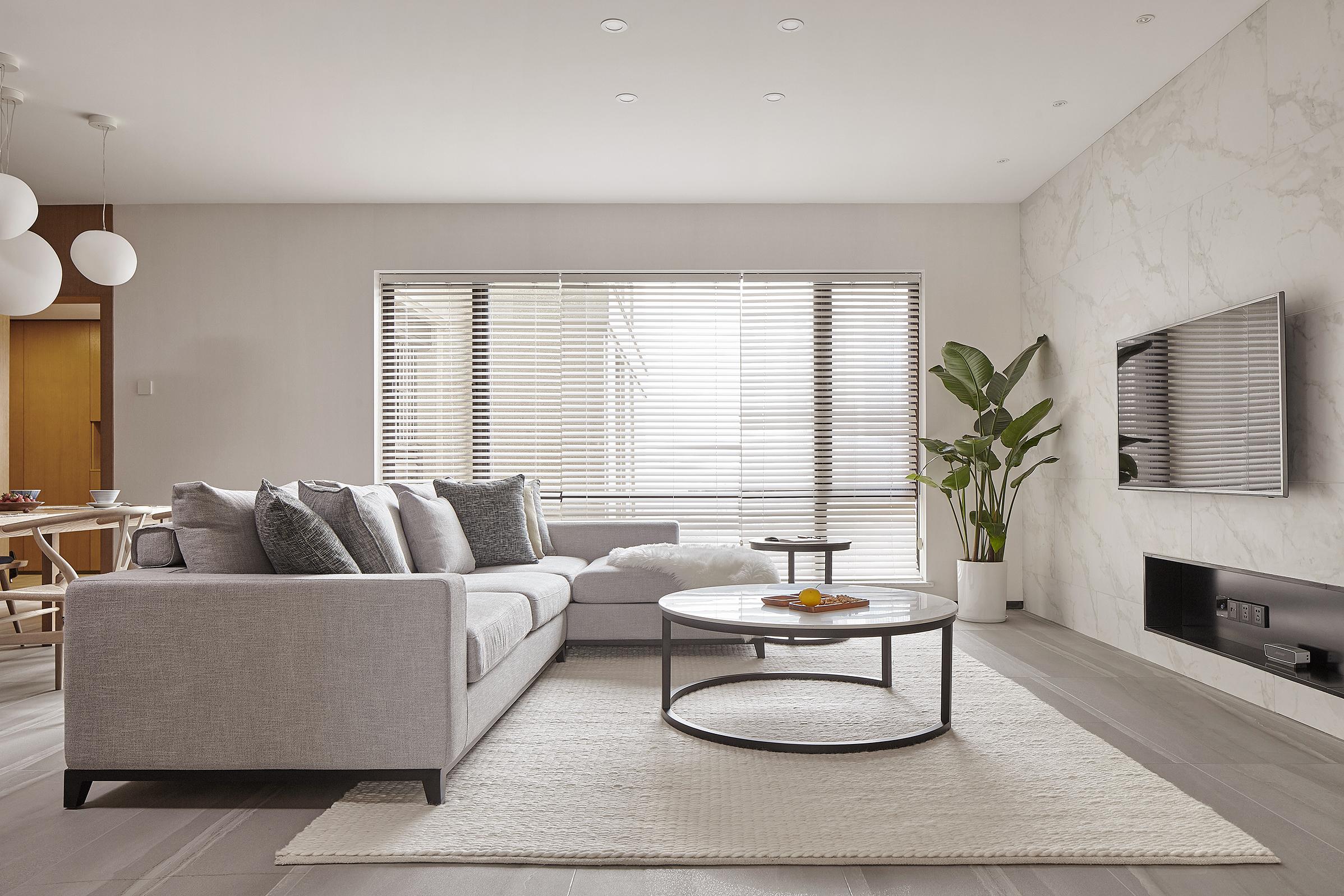 170平素朴简约风装修客厅效果图