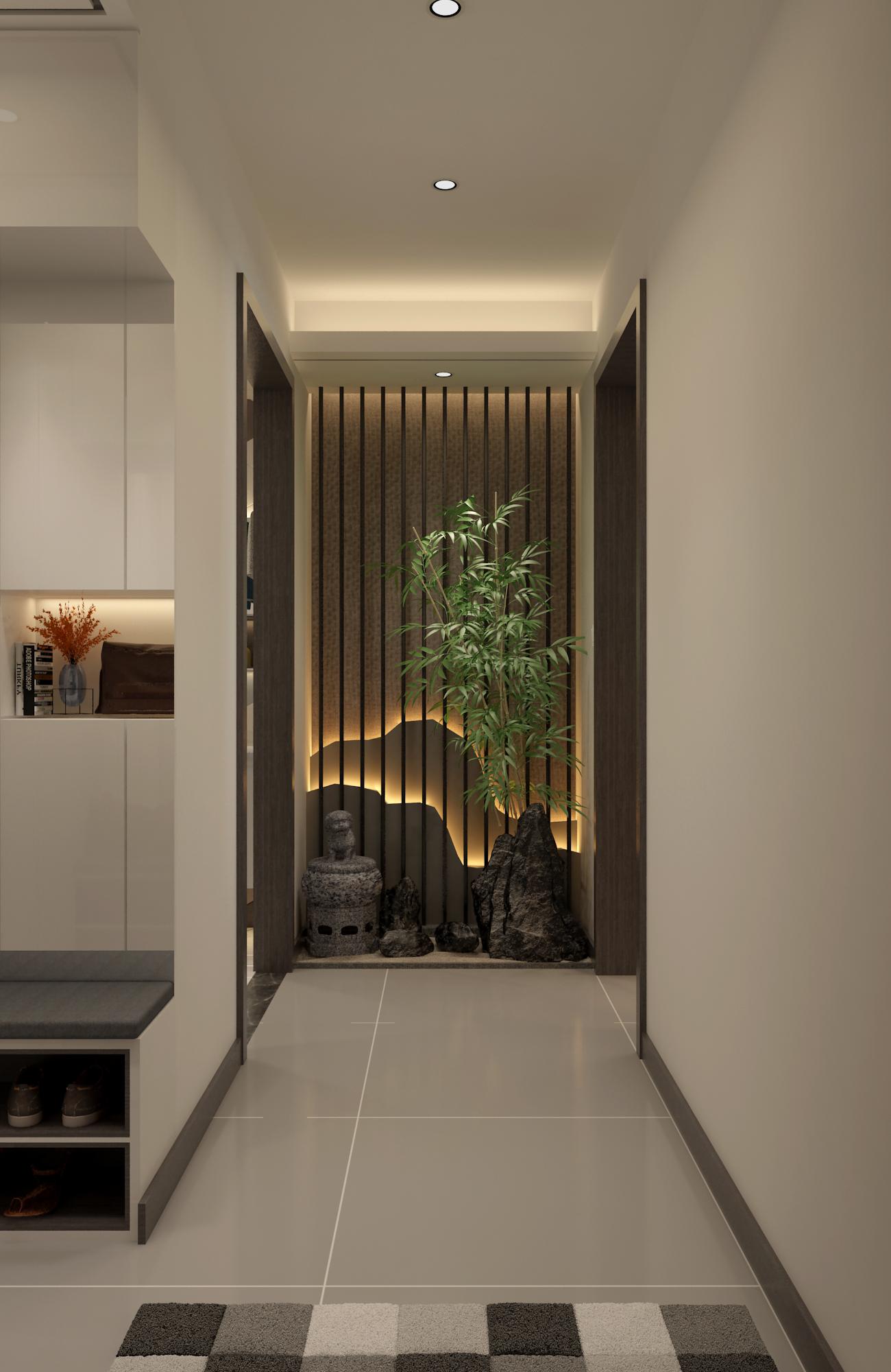 三居室现代风格家玄关设计