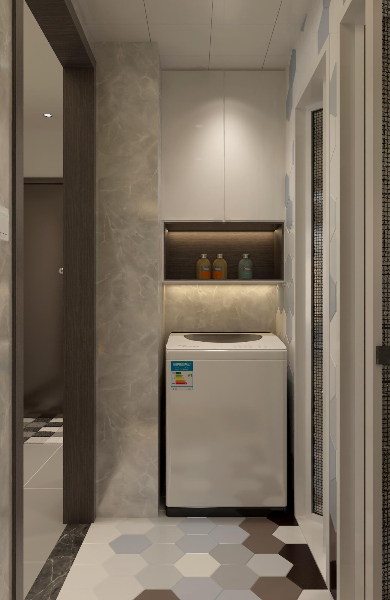 三居室现代风格家浴室柜图片
