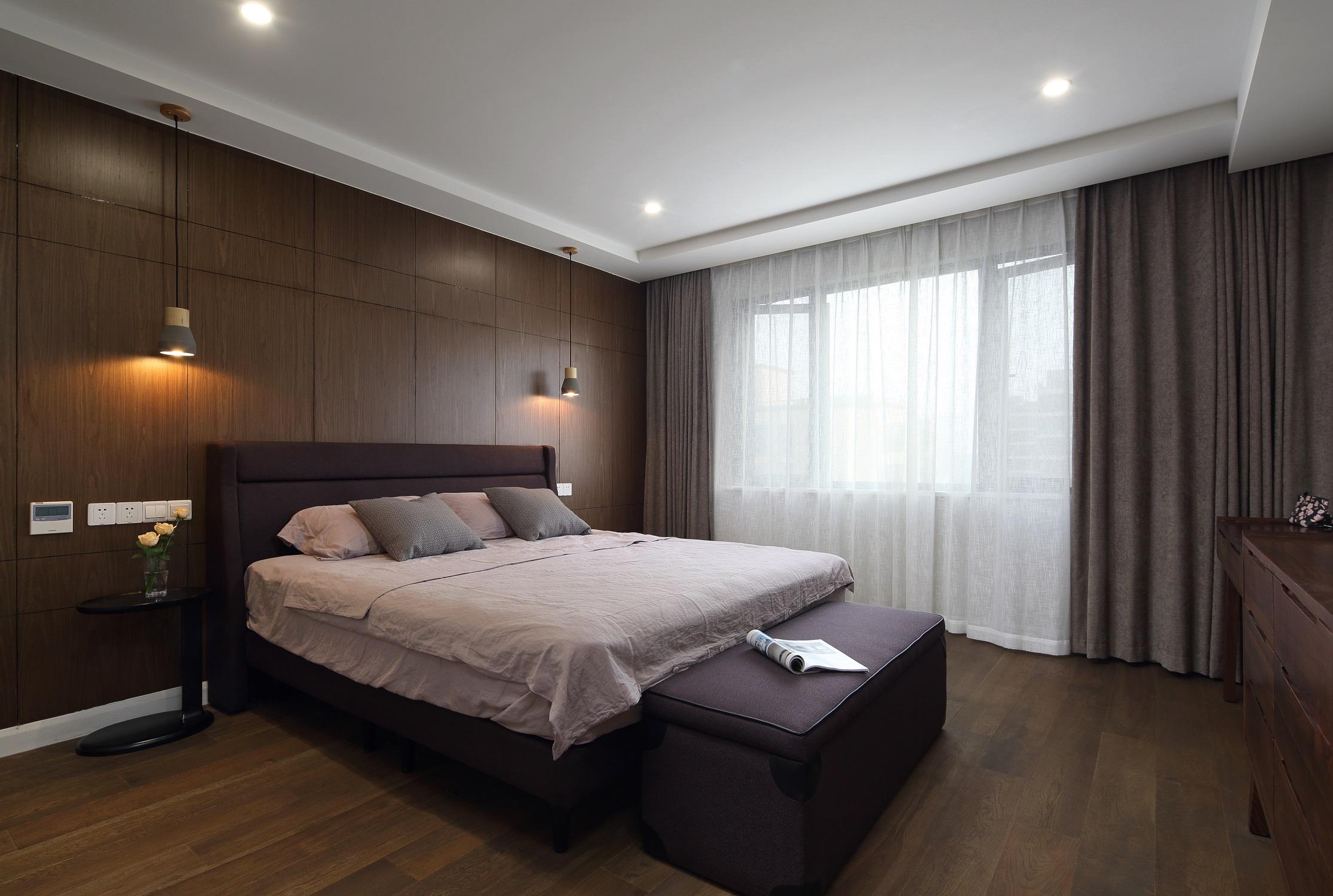 180㎡简约风之家卧室效果图