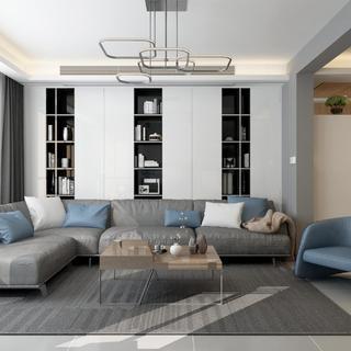 三居室现代风格家 时尚温馨