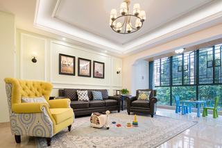 四居室美式装修沙发背景墙图片