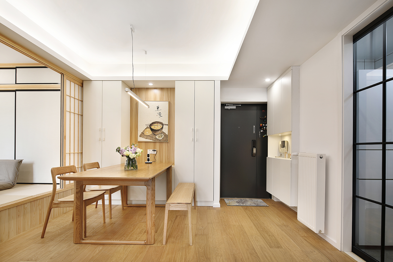 二居室简约日式家玄关设计