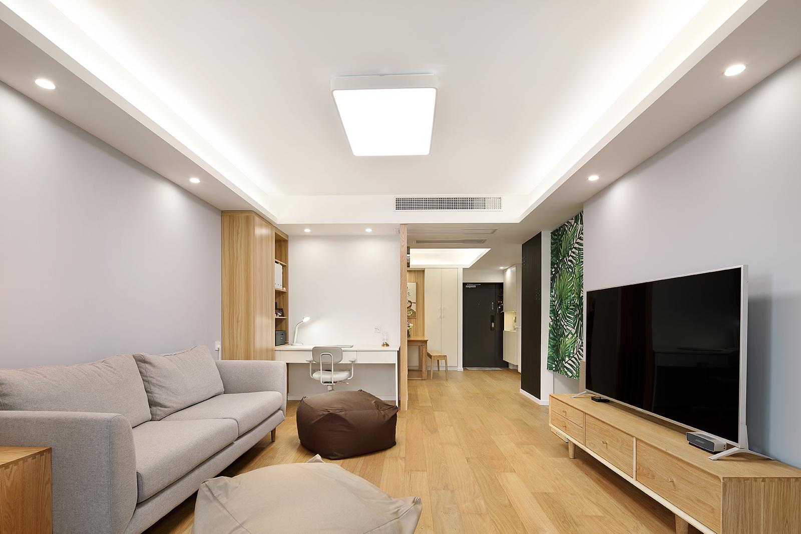 二居室简约日式家客厅效果图
