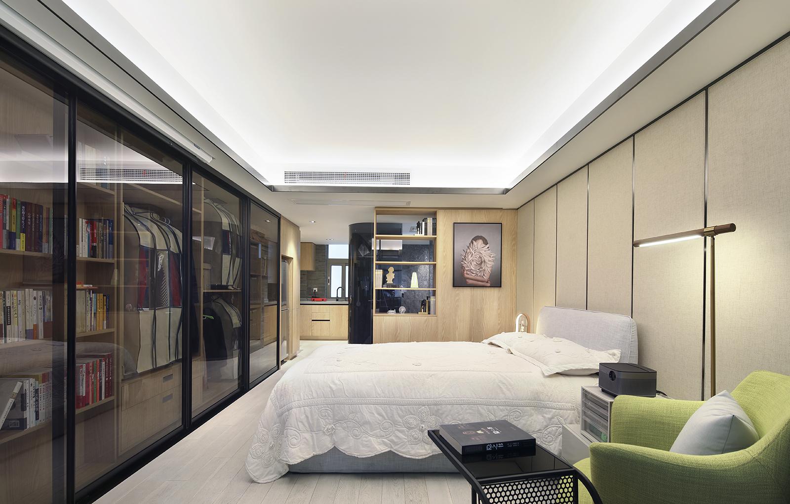 酒店式公寓装修卧室效果图