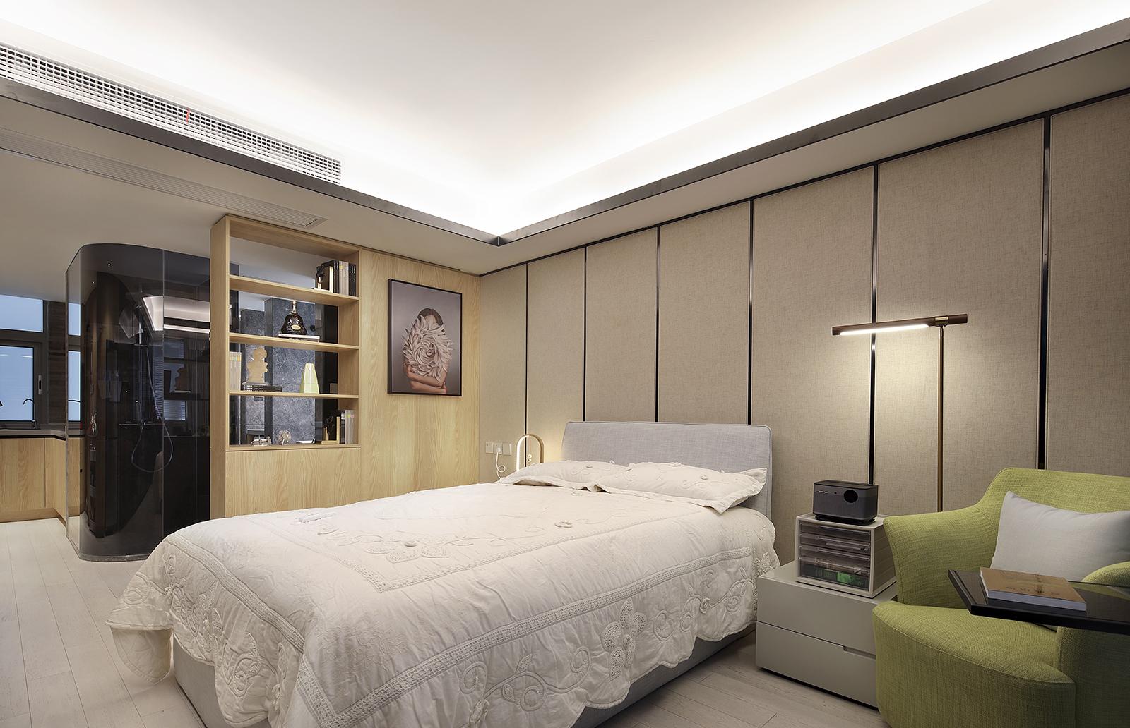 酒店式公寓装修卧室背景墙图片