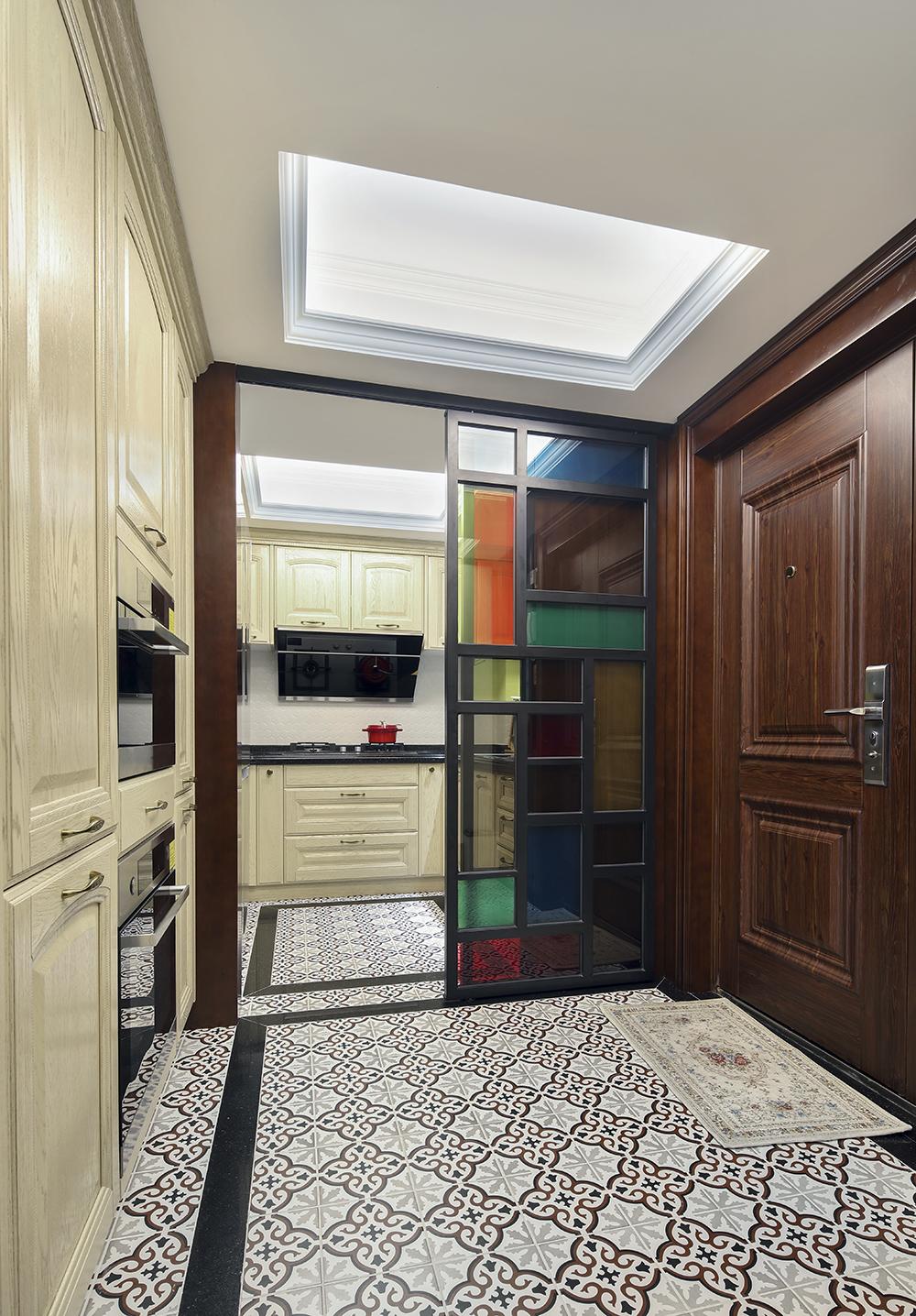 老上海复古海派风装修厨房局部图