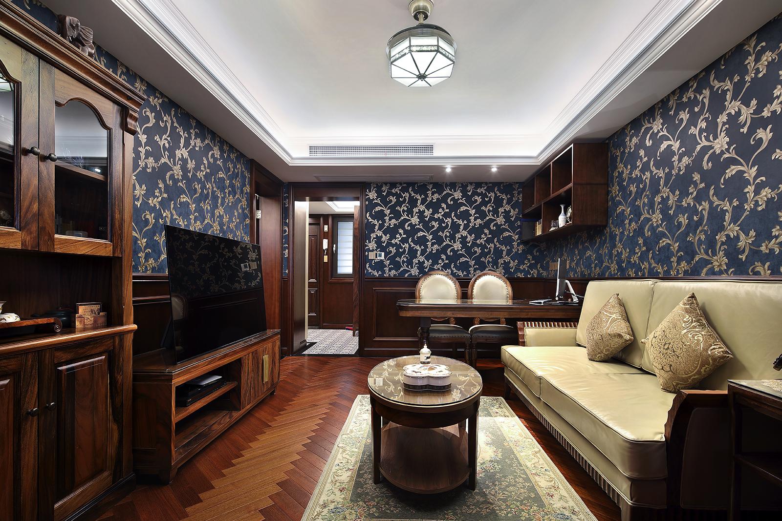 老上海复古海派风装修客厅效果图