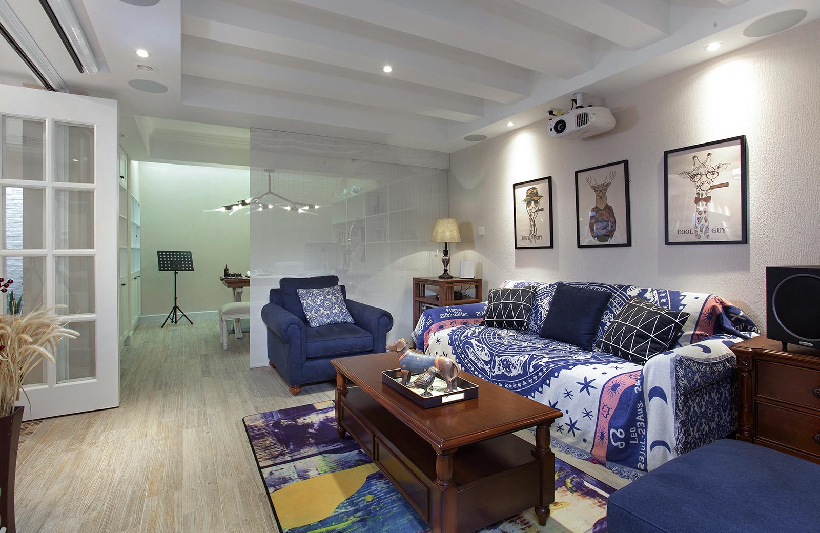 三居室美式叠层装修地下室效果图