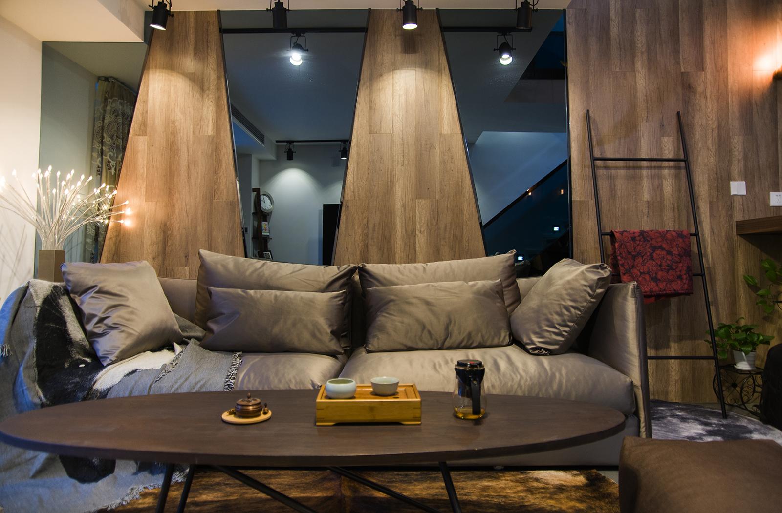 酒店式公寓装修沙发背景墙图片