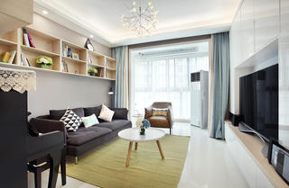 简约二居室装修客厅设计图