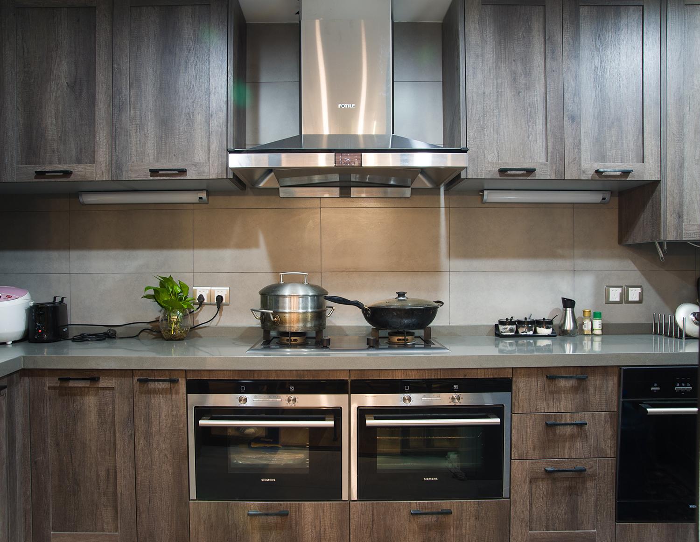 美式混搭工业风厨房设计图