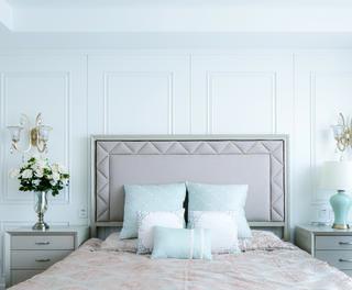大户型美式之家卧室床头背景墙图片