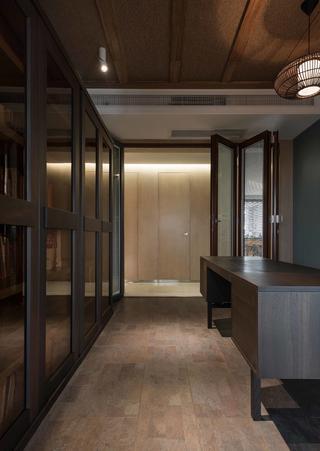 180㎡现代风格装修书房折叠门设计