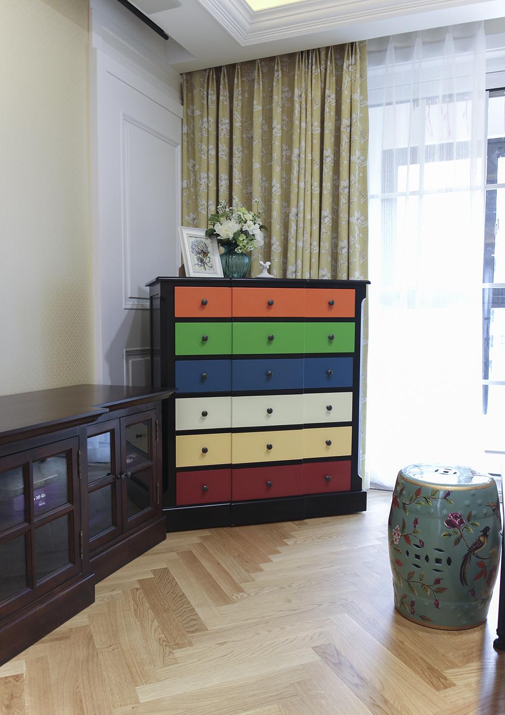125平美式风格家边柜图片