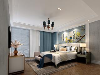 简欧复式别墅装修卧室设计图