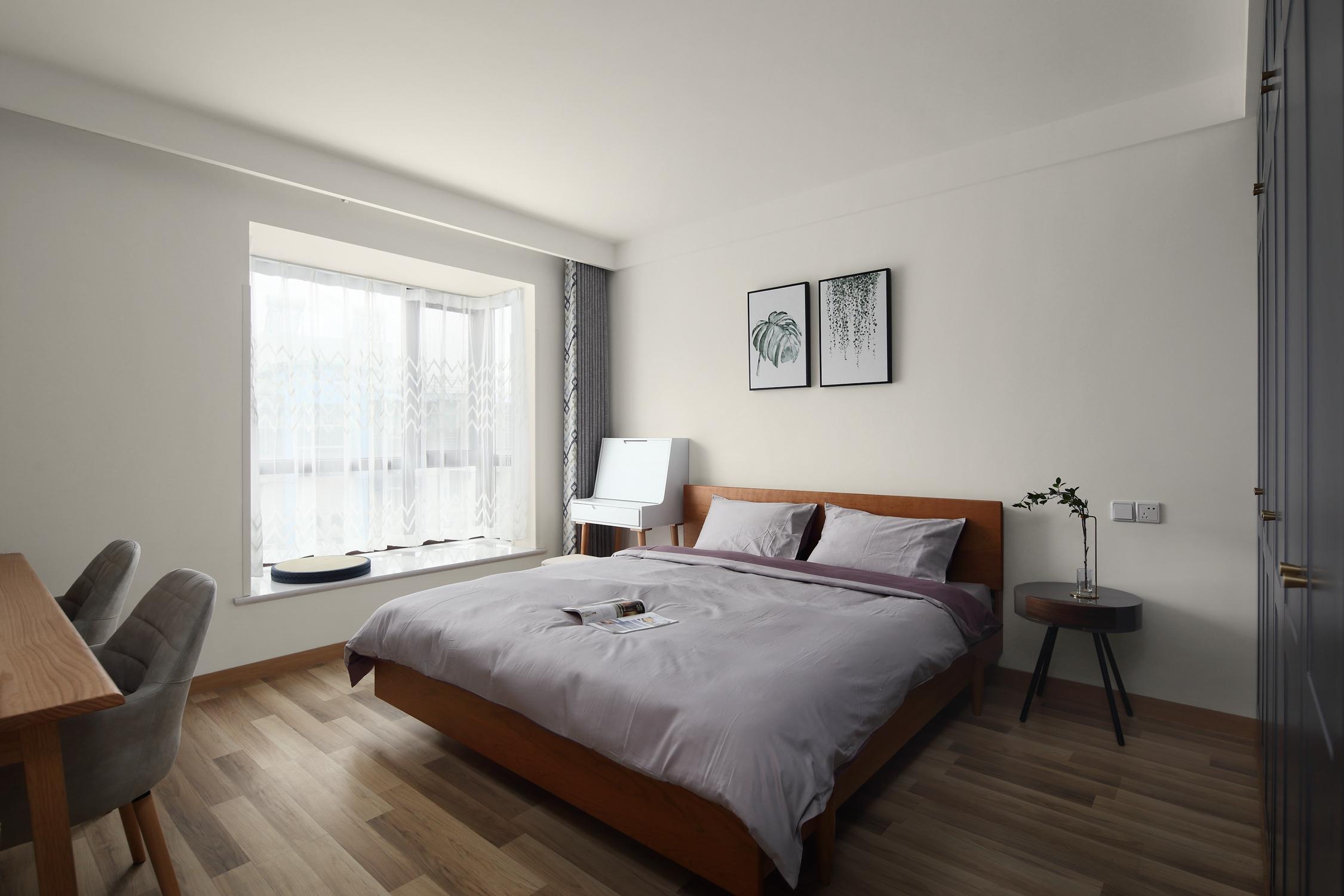 北欧二居室装修卧室效果图