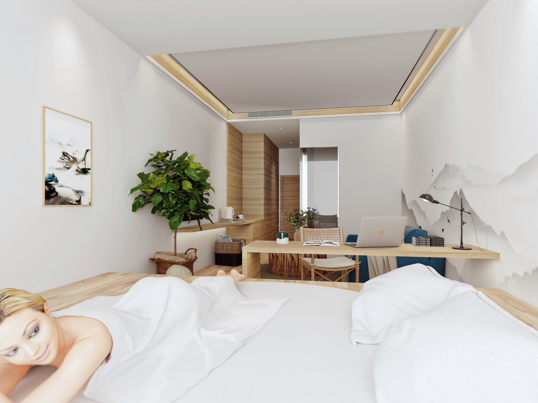 复式民宿装修卧室效果图