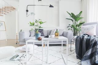 北欧复式装修沙发背景墙图片