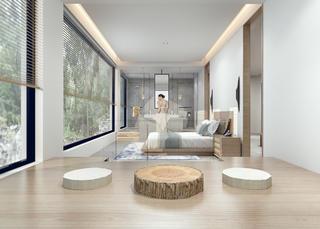 豪华民宿装修卧室休闲区设计图